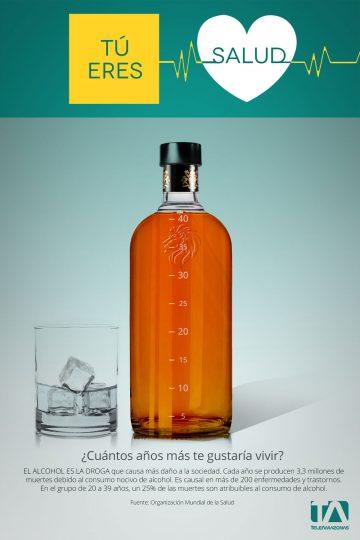 Teleamazonas - Campaña Salud - Afiche Alcohol
