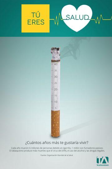 Teleamazonas - Campaña Salud - Afiche Cigarrillo