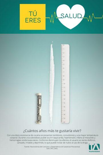 Teleamazonas - Campaña Salud - Afiche Cocaina