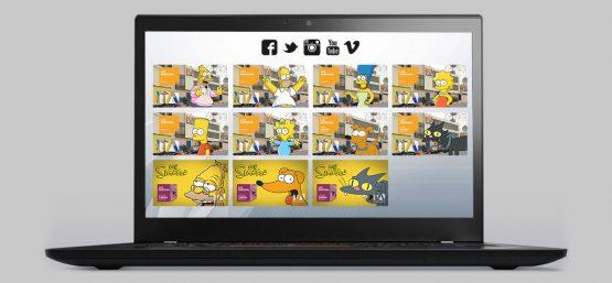 Redes Sociales - Los Simpson - Campaña Publicitaria