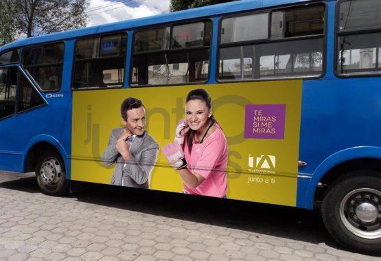 Gigantografía lateral - Teleamazonas - Campaña Publicitaria