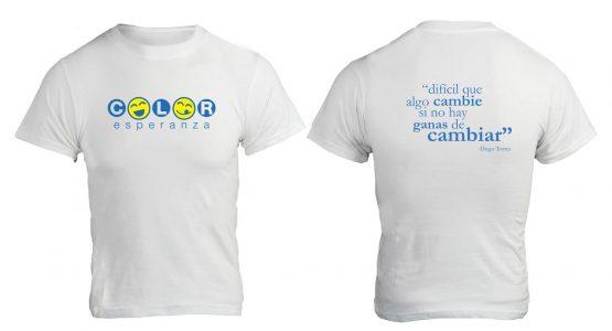 Camiseta Blanca - Color Esperanza - Campaña Social