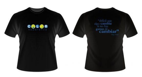 Camiseta Negra - Color Esperanza - Campaña Social
