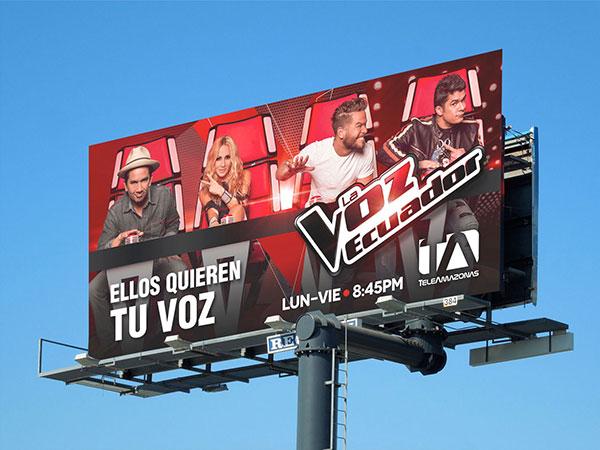La Voz Ecuador - Campaña Publicitaria por Vladimir Zambrano.