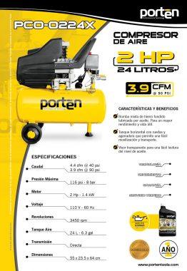 Ficha Técnica Compresores - Porten - Material Publicitario