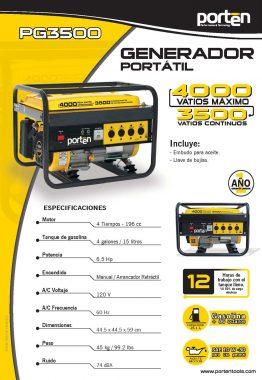 Ficha Técnica Generador - Porten - Material Publicitario