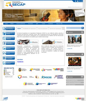 Secap - Home Web y Aula Virtual