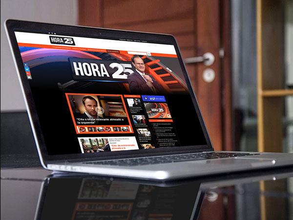 Propuesta Home - Hora 25 - Página Web