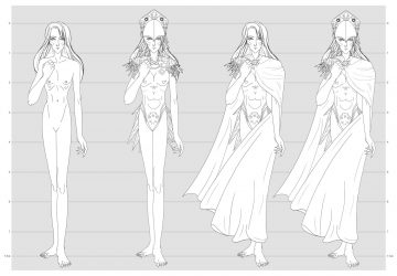 Diseño de portada, personajes principales y dos escenarios para la novela gráfica