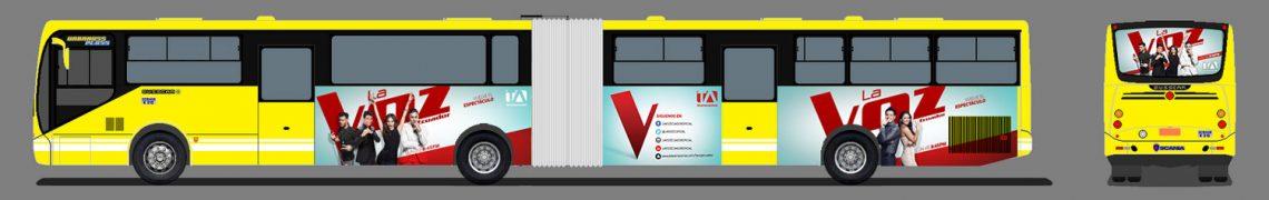 Gigantografìa metrobus - La Voz Ecuador II