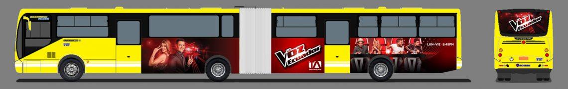Gigantografía para metrobuses urbanos.