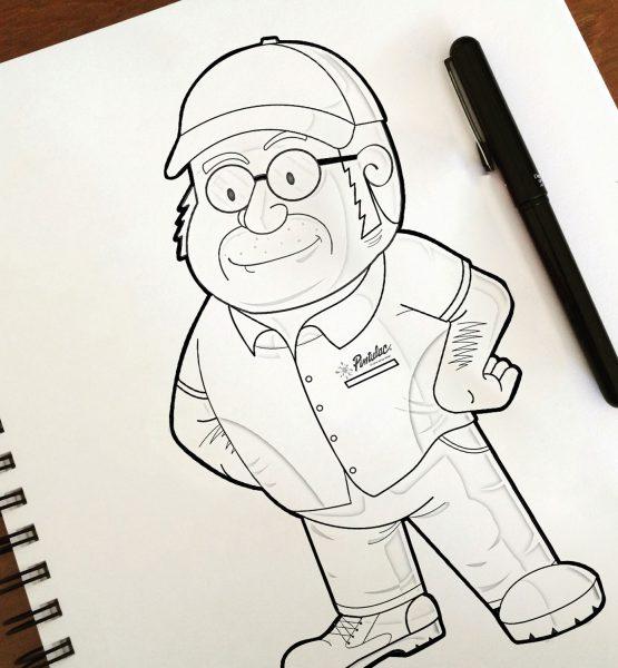 Boceto - Pintulac - Diseño de Personajes