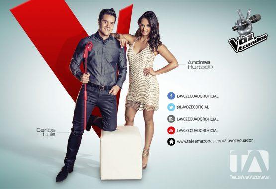 Postal - La Voz Ecuador II (Carlos Luis y Andrea Hurtado)