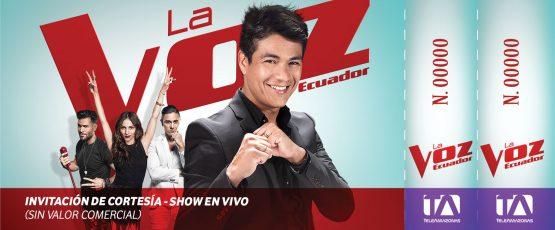 Ticket - La Voz Ecuador II (Américo)