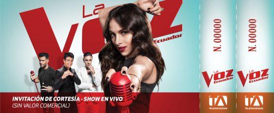 Ticket - La Voz Ecuador II (Paty Cantú)