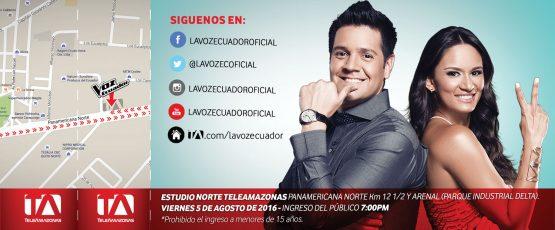Ticket - La Voz Ecuador II (Carlos Luis y Andrea Hurtado)